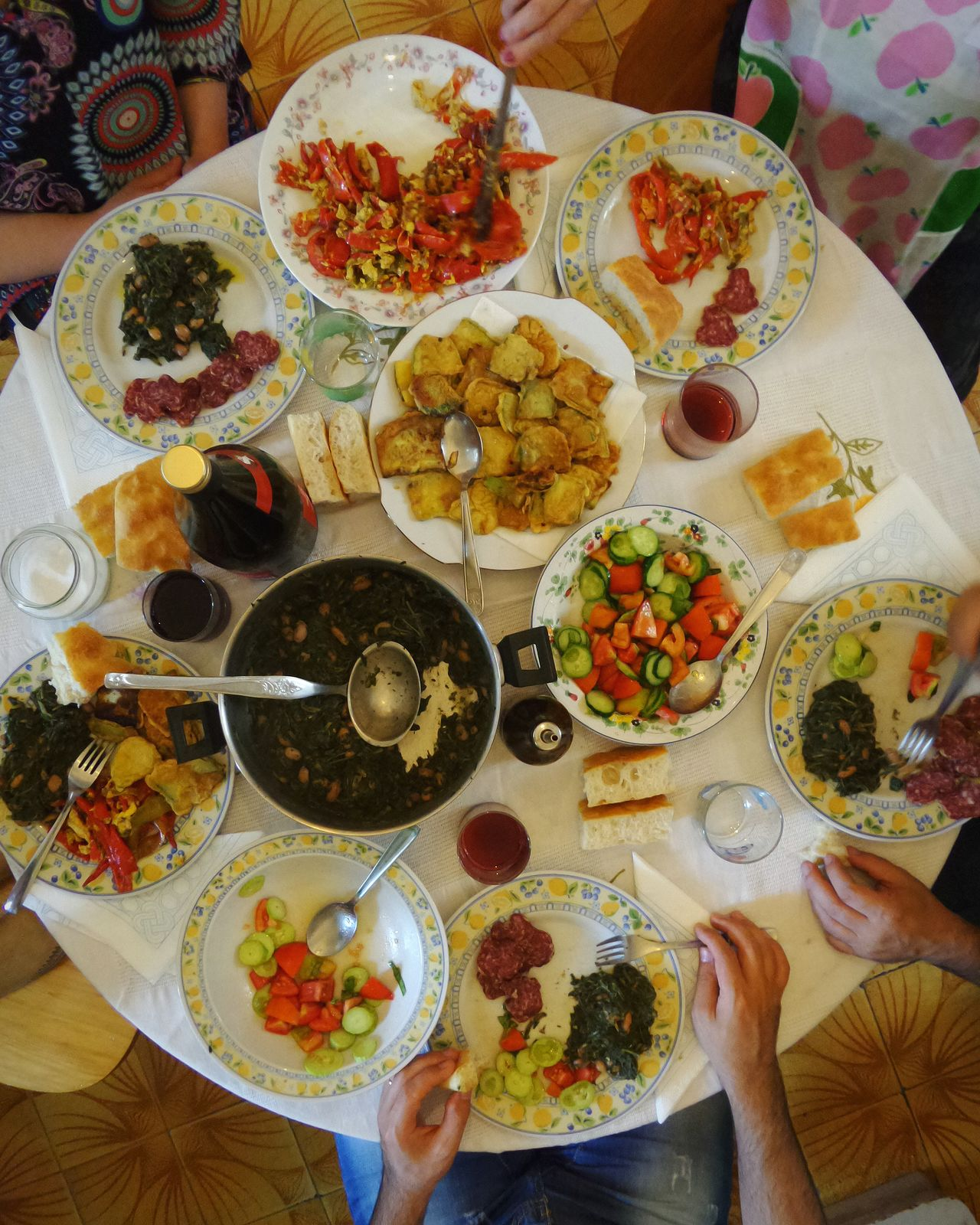People Together Eating Together Family Lunch Eating Healthy People Photography People Eating The Week On Eyem Table View Sitting At The Table Rich Colors Cooking Colorfully Vegetables Italy Italian Lifestyle Family Portrait Showcase July A Bird's Eye View ShareTheMeal