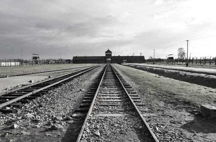 no way out. its over. Auschwitz  Awful Cry History No People Oswiecim Outdoors Poland Rail Transportation Railroad Track Sadness Transportation