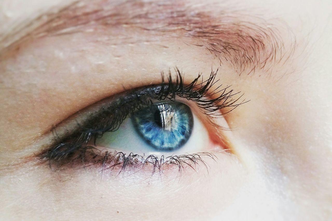 human eye, human body part, eyelash, sensory perception, eyesight, real people, eyeball, one person, close-up, looking at camera, human skin, iris - eye, vision, eyebrow, iris, portrait, day, outdoors, people