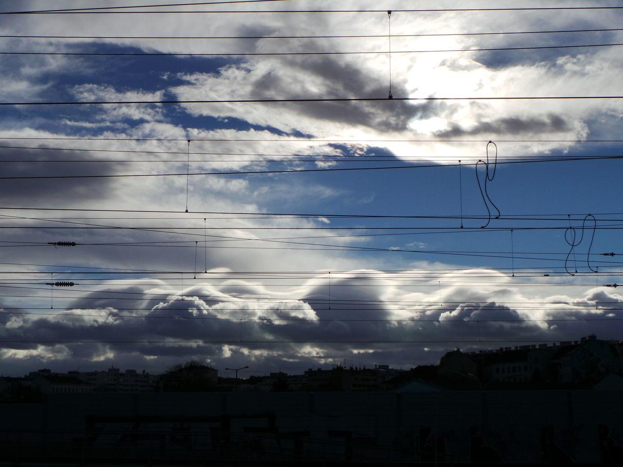 Back Light Bahnhof Catenary Clouds Clouds And Sky Gegenlicht Himmel Und Wolken Matzleinsdorfer Platz Oberleitung Overhead Contact Line Sky And Clouds Trainstation Vienna Wien Wolken