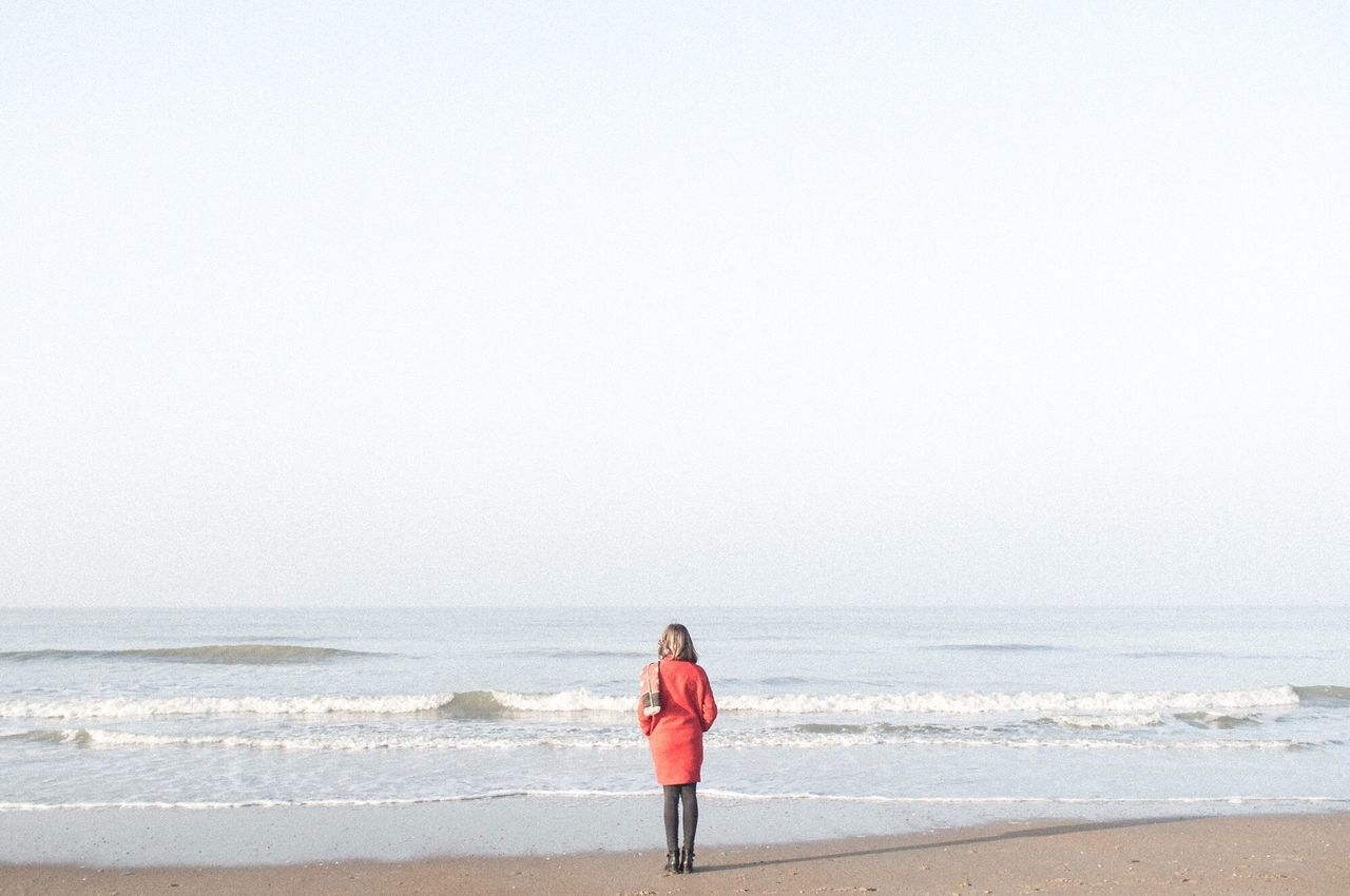 Northsea Oostende, Belgium Sea Beach Horizon Over Water One Person Standing Lifestyles Water One Woman Only Beauty In Nature People Minimalism Minimal Photography Social Photography