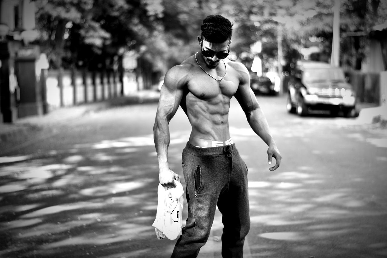 Body & Fitness Shirtless Sport Athlete Lifestyles Strength Muscular Build Exercising BodybuilderLifeStyle Bodyart Only Men One Man Only Men Outdoors Adult One Person Sportsman Males  One Young Man Only Adults Only People Day Young Adult EyeEmNewHere