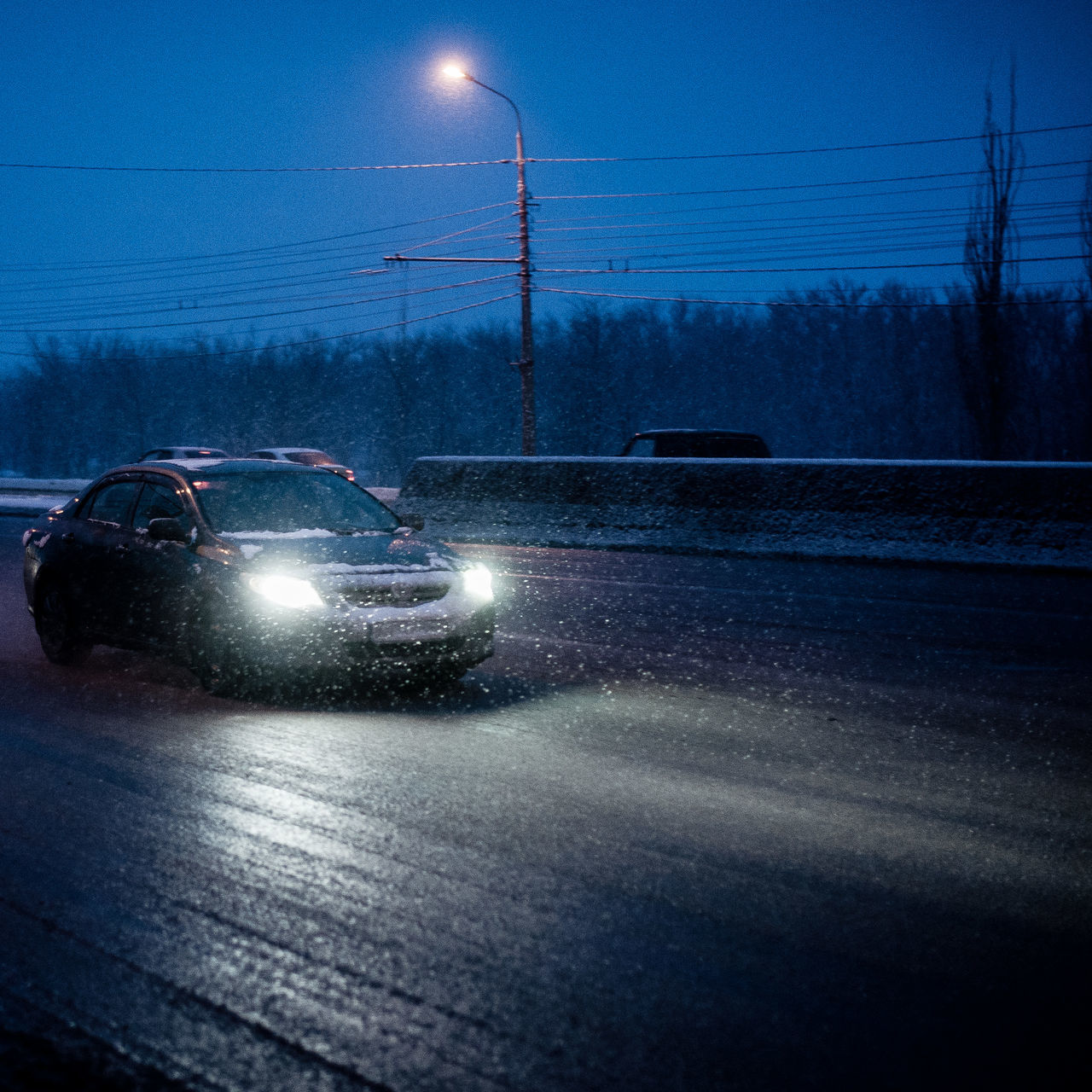 Car Illuminated Sky Cold Temperature Road Night No People Indoors  Nature Transportation Mode Of Transport Light Snow Snowing Snowflake Snow ❄