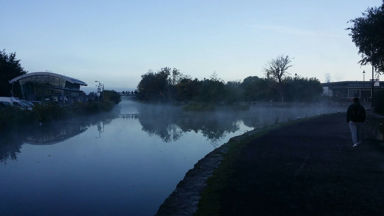 Royal Canal Early Morning Mist Commuters