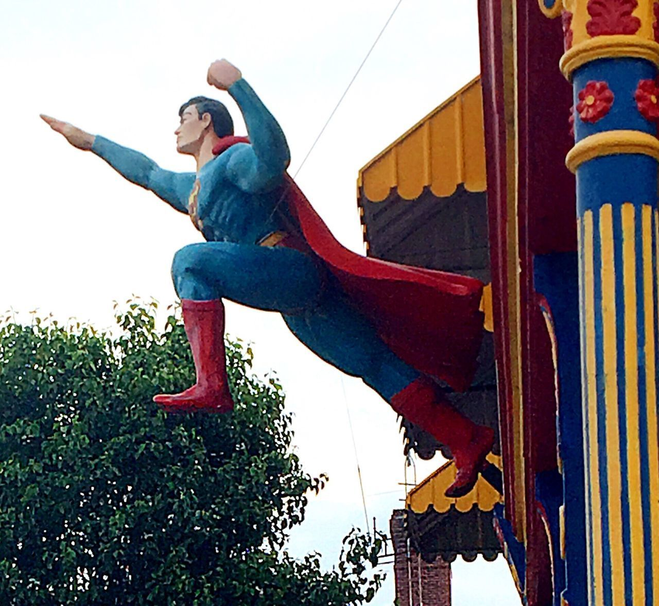 Look, up in the sky Superman Day Low Angle View Outdoors Sky statue art Metropolis flying hero