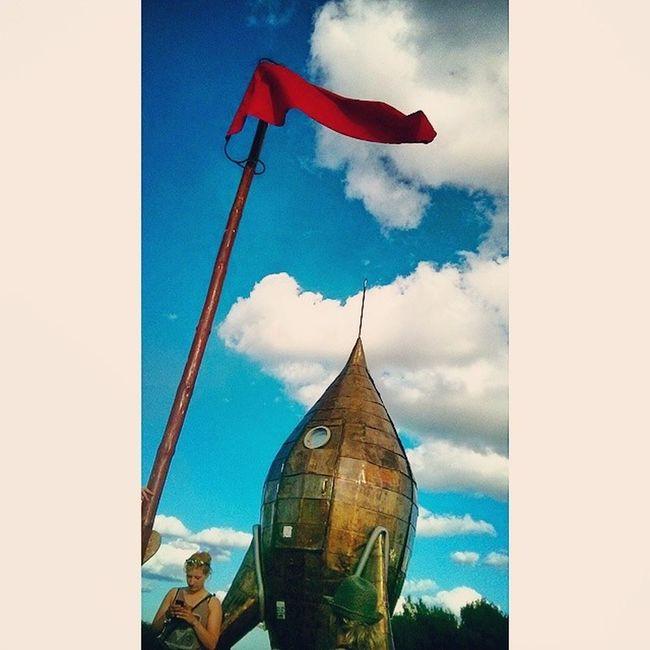 Fusion Fusionfestival Fusionfestival2014 Music Festival Fusionrakete Rakete Rocket Redflag Clouds Sky Lärzklopfen