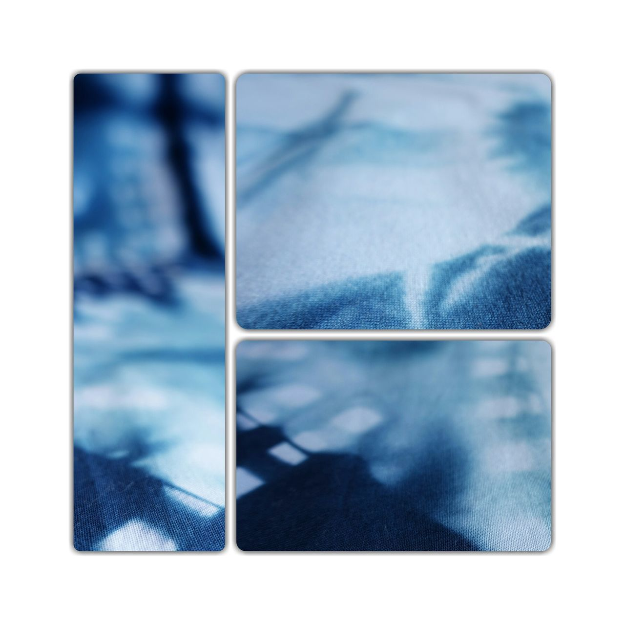 White & Blue 😀 Shibori White Background No People Close-up Day Mixed Patterns Muster Mix DIY Cotton Cloth Large Group Of Objects Collage Patterns & Textures Textures And Surfaces Textured  Trying New Things At Home Cut And Paste