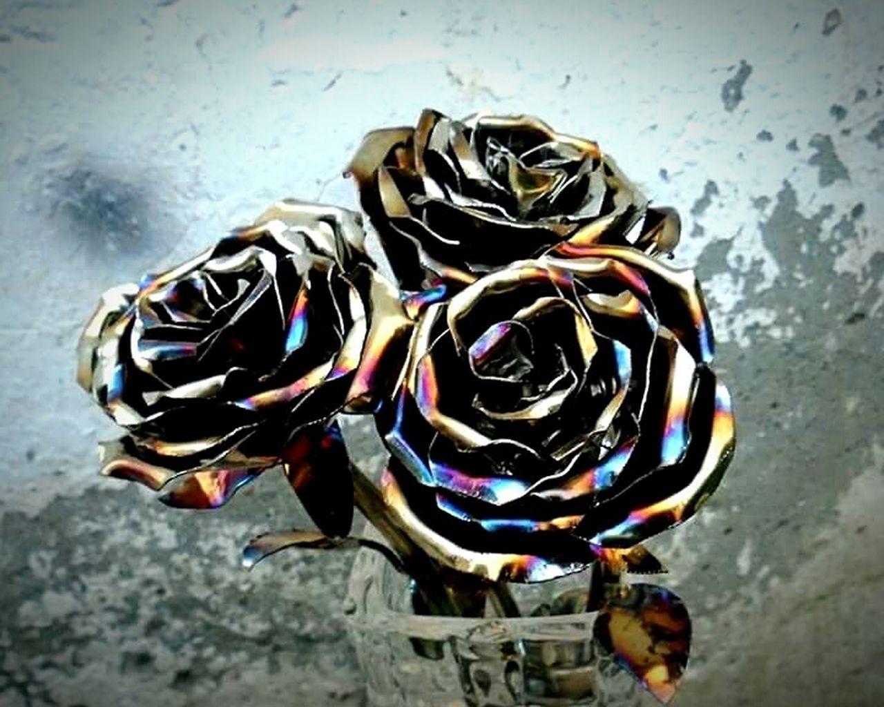 Handmade Metal Roses. Stainless Steel facebook.com/handmadesteelrosesOutdoors Close-up No People Day First Eyeem Photo Handmade By Me Art And Craft Art Rose🌹 Garden EyeEmNewHere