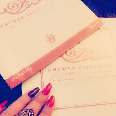 Happiness just got my invite to Anfwan Fashion Abudhabi uae fowzia_alotiba event intercontinental invitation excited