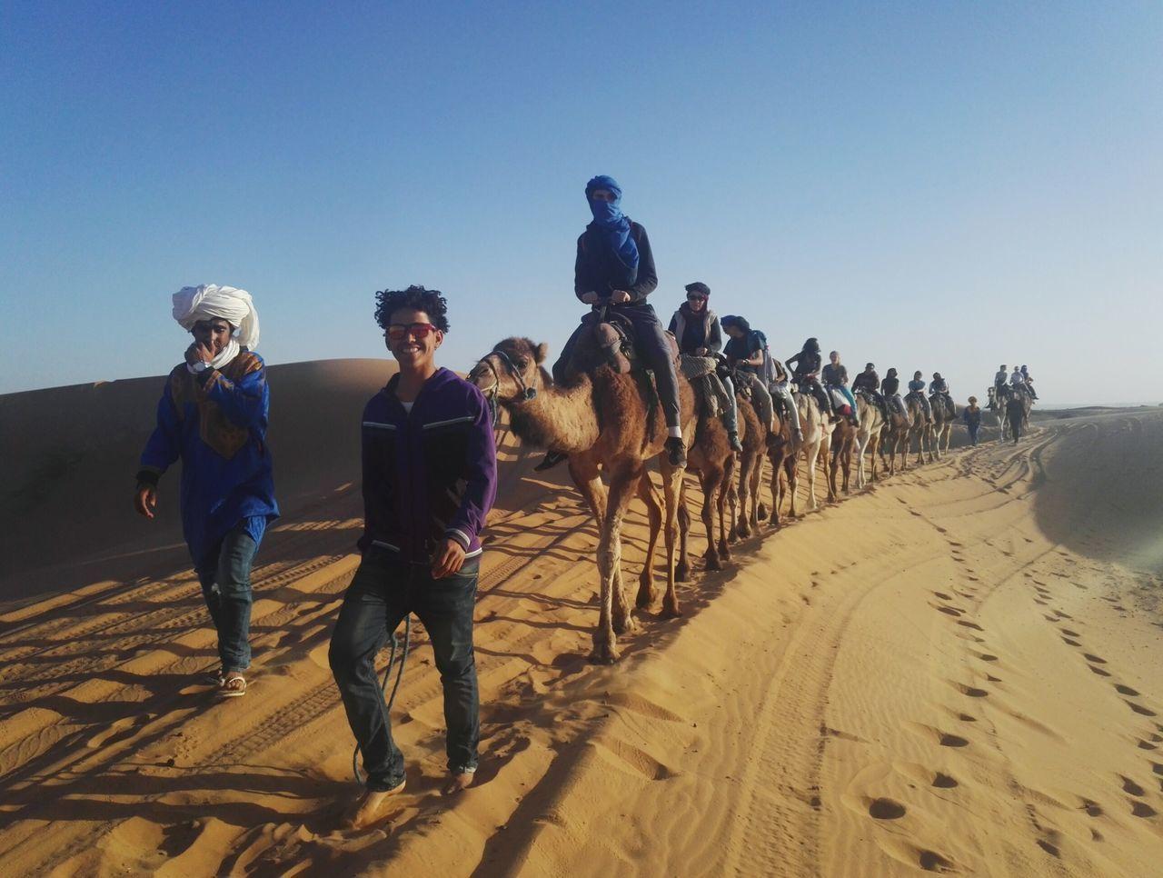 Perspective Hijab Outdoors Desert Desertlife Camel Sahara Desert Sahara Adventure Happiness Looking At Camera Marrocco Walking Sand