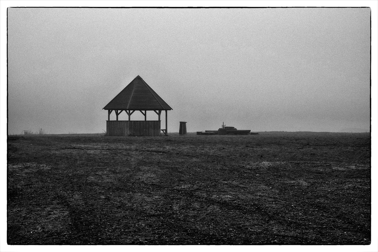 Foggy Weather Building Foggy Day Melancholic Landscapes No People