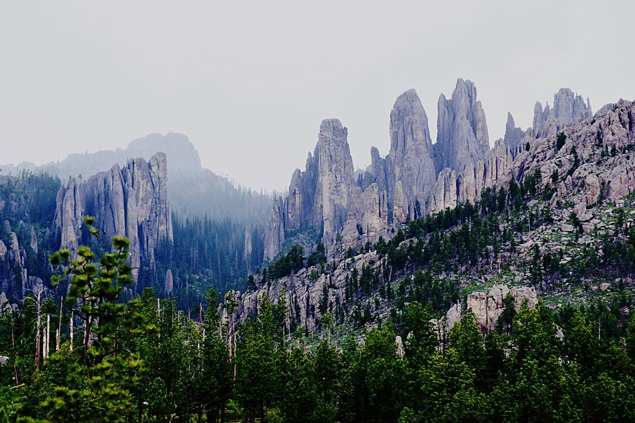 The Needles spires of the Black Hills, SD mountains scenic Mountain Range Landscape Beauty In Nature Mountain