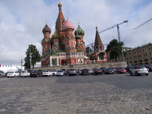 St Basil's Cathedral (1555-1561), Rear of Building Architecture Building Exterior Built Structure Capital Cities  Cathedral Colourful Composition Distant View Domestic Animals Façade Famous Place Full Frame History Moscow No People Outdoor Photography Religion Russia St Basil's Cathedral Tourism Tourist Attraction  Tourist Destination Travel Destinations Trees White Clouds