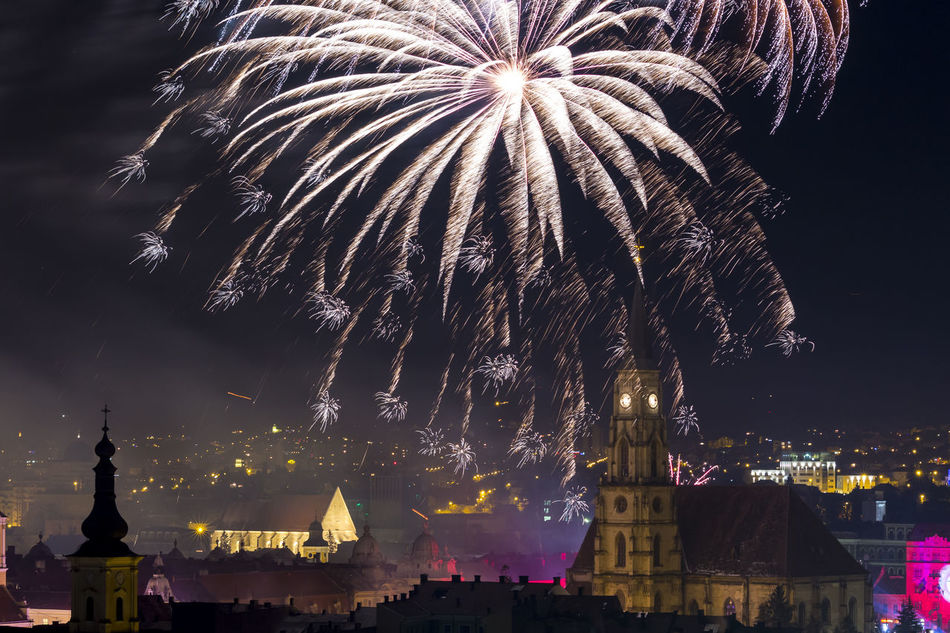 Fireworks 2016 Celebration Cluj Cluj Napoca Fireworks Fireworksphotography Happy New Year 2016 Klausenburg The Architect - 2016 EyeEm Awards New Year New Year Around The World
