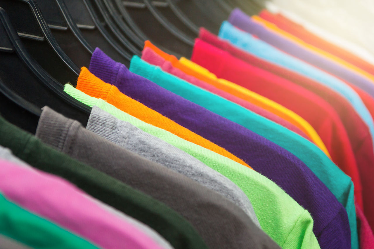 Hanging Around Choice Close-up Day Fashion Multi Colored No People Rainbow Spectrum T-shirt