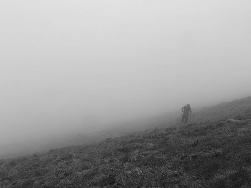 Climbing a mountain in Yorkshire. Adults Only Adventure Beauty In Nature Climbing Cold Temperature Day EyeEmNewHere Fog Full Length Healthy Lifestyle Hiking Landscape Leisure Activity Lifestyles Men Mountain Nature Only Men Outdoors People Real People Scenics Sky Walking Winter