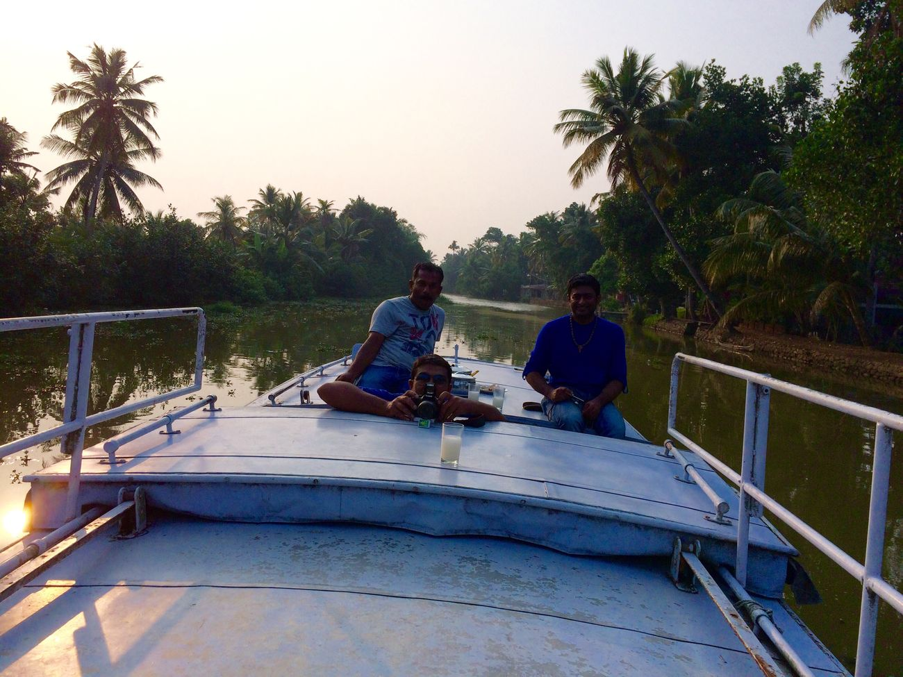 Finding New Frontiers Tranquility Travel Boating Top Of A Boat Enjoying Life Boat Ride Backwaters Kerala Evening