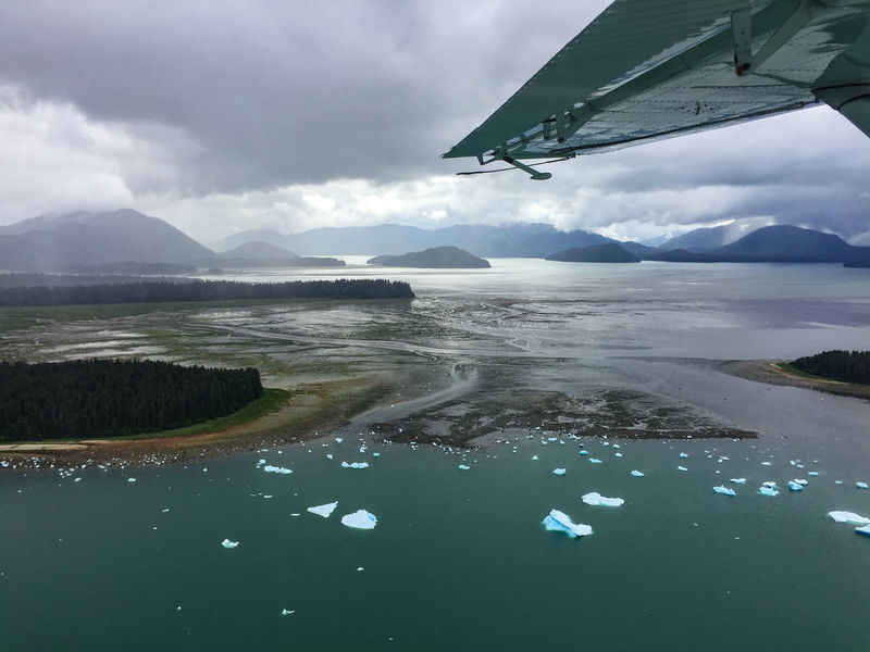 Exploring Alaska's Coastal Wilderness. Approaching Petersburg airport after exploring Le Conte Glacier with sea plane. Airplane Wing Beauty In Nature Cloud - Sky Cold Temperature Day Exploring Alaska's Coastal Wilderness Ice Floes Lake Landscape Mountain Mountain Range Nature No People Outdoors Scenics Sea Plane Sky Tranquil Scene Tranquility Water