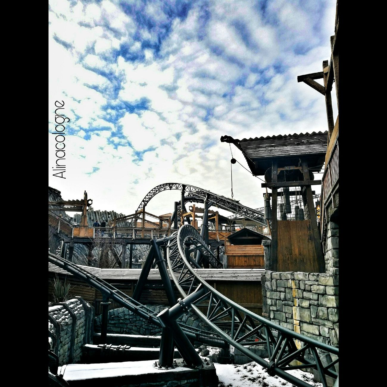 Klugheim Phantasialand Brühl Love Secondhome Liebe Taron Photography Shoot Day Outdoors No People Architecture Sky And Clouds Skyporn Rollercoaster Freizeitpark Köln, Germany Sky Railing Built Structure Steps Building Exterior First Eyeem Photo
