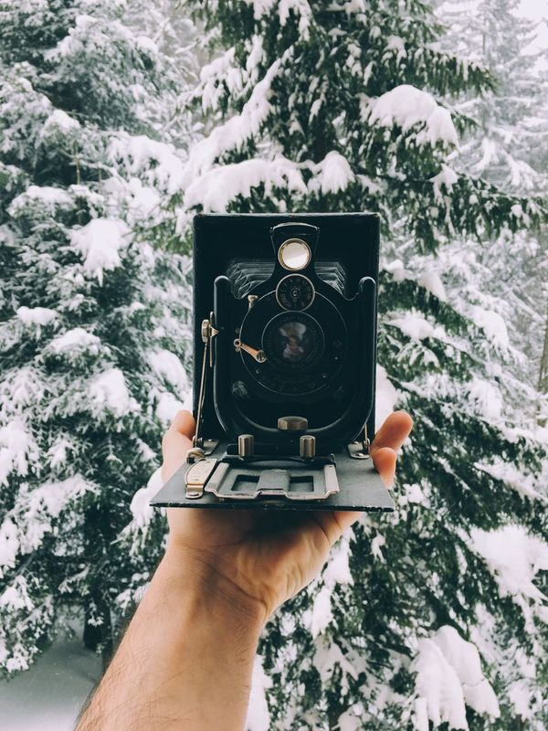 Photography Themes Camera - Photographic Equipment Human Hand Photographing Holding Human Body Part Snow Cold Temperature Winter One Person Only Women One Woman Only Adults Only Front View Photographer People Real People Outdoors Nature Day Lieblingsteil Be. Ready.