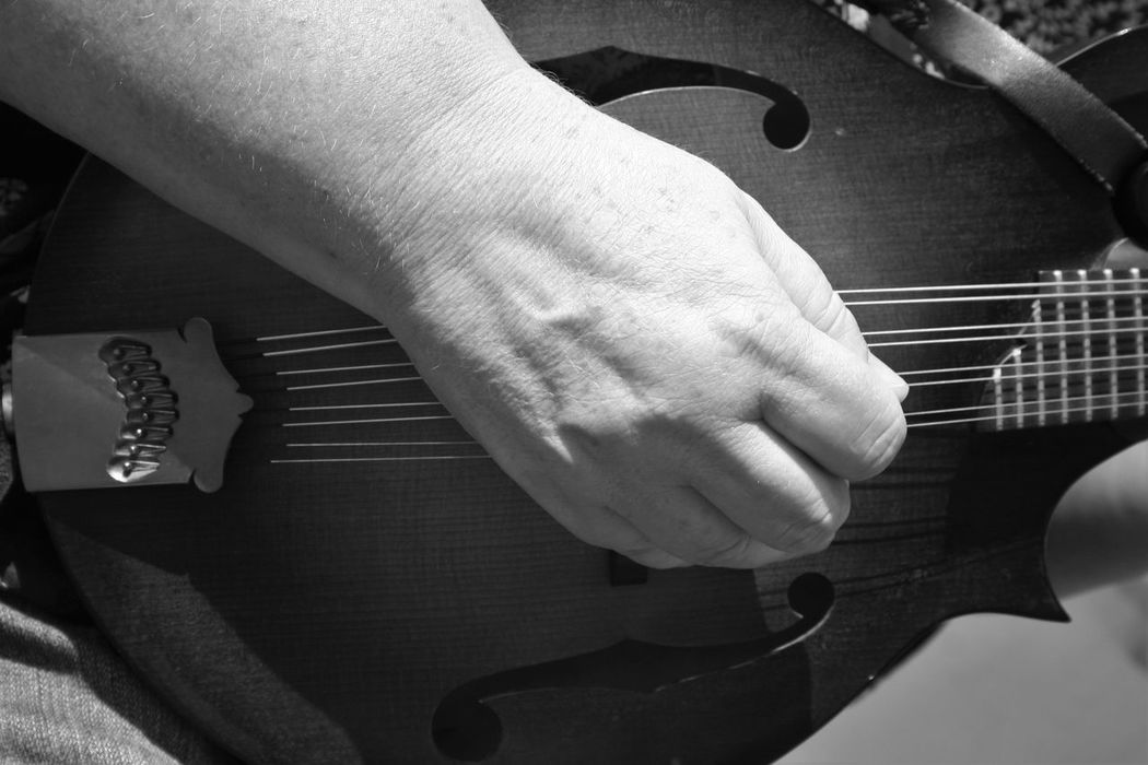 Black & White Black And White Black And White Photography Black&white Blackandwhite Blackandwhite Photography Holding Instrument Instruments Mandolin Music Musician Person Playing