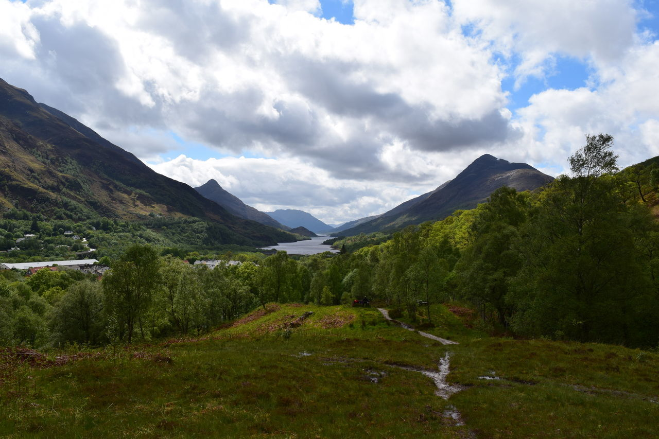 Beauty In Nature Clouds Day Glencoe Grass Kinlochleven Landscape Loch Leven Mountain Nature No People Outdoors Peace Scenery Scenics Scotland Scottish Highlands Sky Solidarity Solitude Tranquil Scene Tranquility Tree Trees