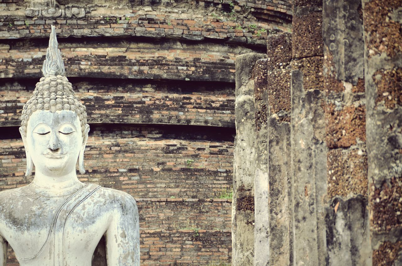 Religion Human Representation Place Of Worship Old Ruin Day Outdoors Statue Spirituality No People Architecture Sculpture Cultures Sukhothaihistoricalpark Thailand AMPt_community Eye4photography  EyeEm Masterclass Shootermag
