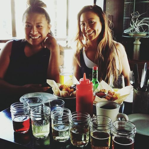 Cider Tasting Board Young Women Happiness Food And Drink Brunching Cocktail Togetherness Only Women Drink Food And Drink Details Of My Life Real People Two People Adults Only Fun Table Adult Friendship Love ♥