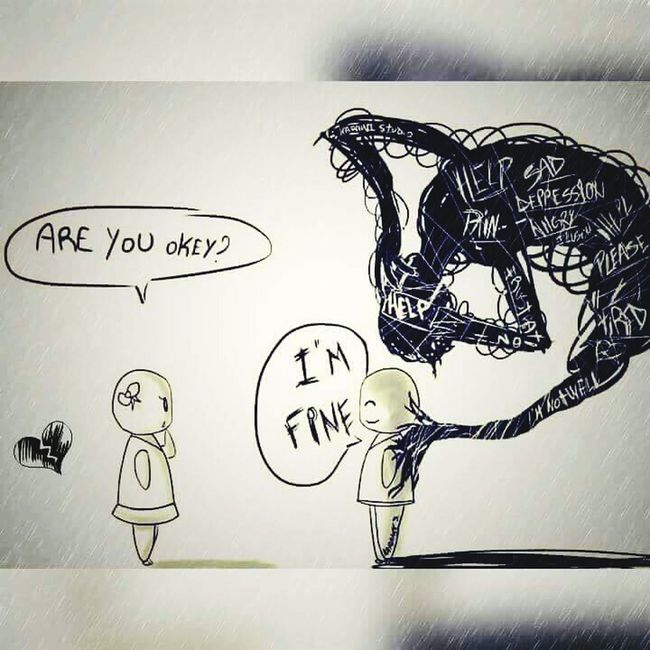 Are You Okey? I'm Fine  Help Deppresion Please Sad