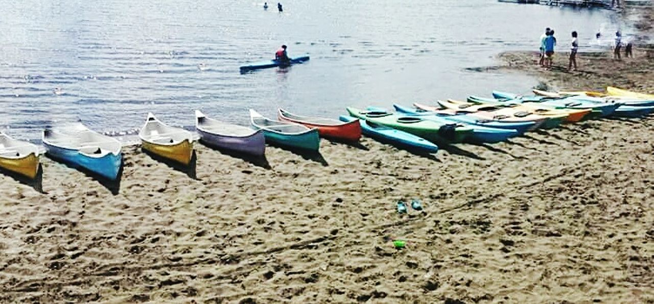 sand, beach, mode of transport, nature, day, nautical vessel, water, outdoors, men, sea, people