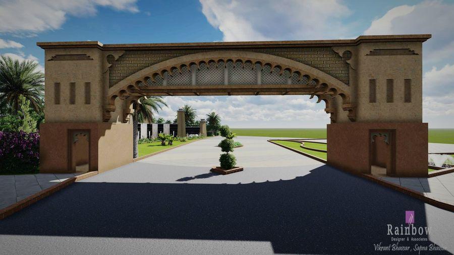 3D Gate Architecture Softwares Revit  Lumion