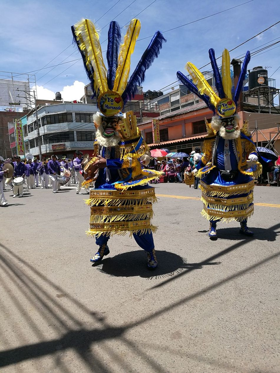 Celebration Building Exterior Gold Colored City Architecture Outdoors Built Structure Gold Day Sky Cultures Queen - Royal Person Candelaria2017 Dance Dancing Morenada Perú ❤ Puno, Perú Morenos
