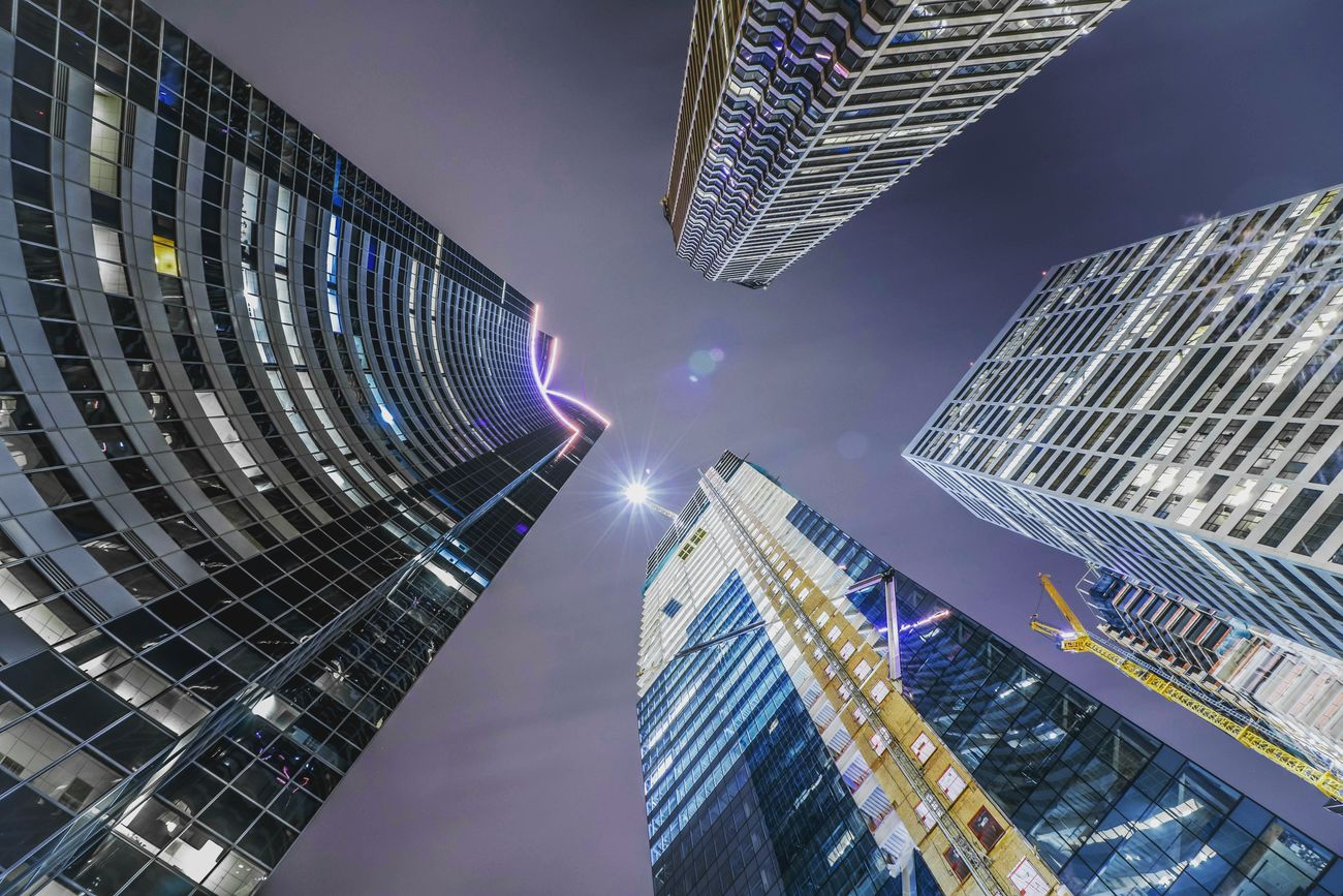 I feel like an ant Illuminated City Skyscraper Architecture Modern Cloud - Sky Night Building Exterior Cityscape Neon Urban Skyline Travel Destinations Business Financial District  No People Futuristic Sky Outdoors Modern Architecture_collection Long Exposure Citylife Street Life Exposure Street Photography
