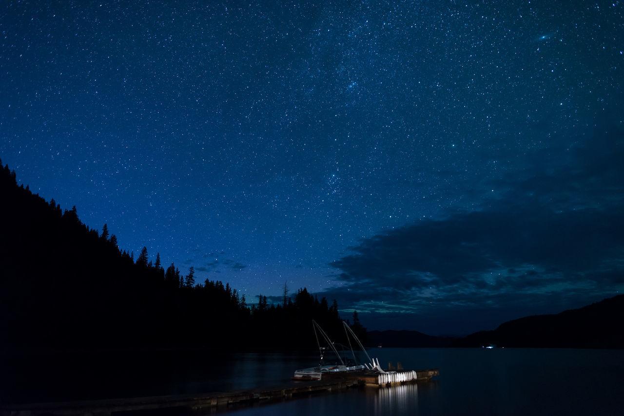 Canim Lake British Columbia Camping Lake Lake View 108 Mile Nightphotography Stars Night
