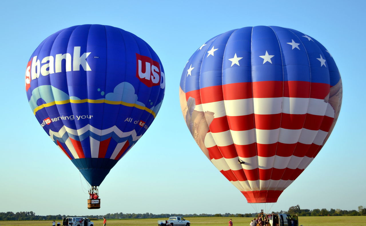 23rd annual U.S. Bank Balloons, Tunes & BBQ Airport Blue Clear Sky Day Hot Air Balloon Hot-air Balloon Kentucky  No People Outdoors Sky