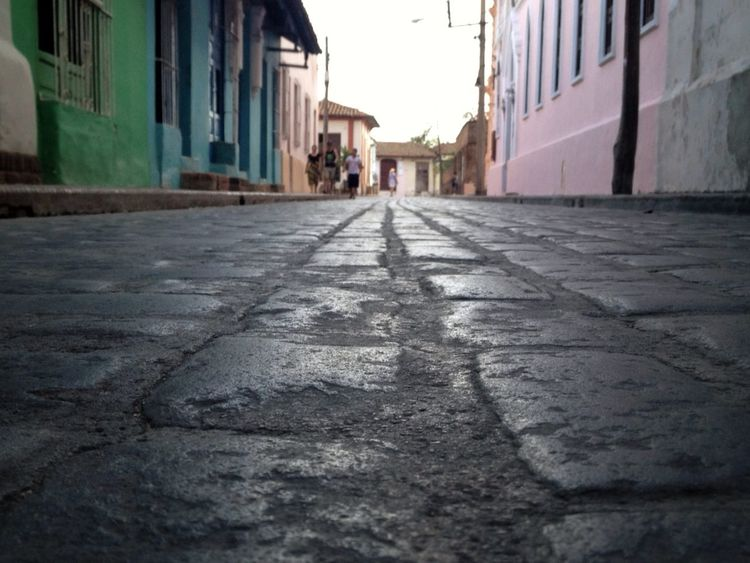 This is not the yellow path to the emerald city Alley Architecture Building Building Exterior Built Structure City City Life Cobbled Day Diminishing Perspective Empty Road Façade Footpath Incidental People Long Narrow Old Town Outdoors Residential Building Residential District Residential Structure Street Surface Level The Way Forward