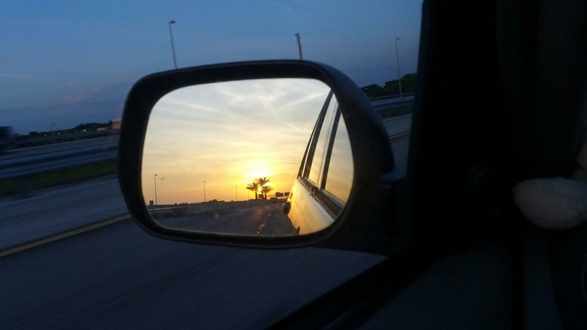 ....never could say goodbye. Florida NoEditNoFilter Sunrise Sunrise_Collection Sideviewmirrorshot Sideviewmirror