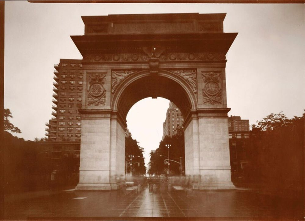 Washington Square Park Arch Pinhole NYC Paper Negative Washington Square Park Pinhole Photography 5x7 Urban Landscape