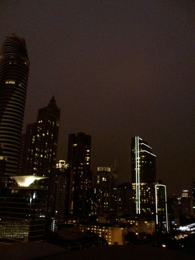 Night Skyscraper Illuminated Architecture Cityscape Building Exterior City Urban Skyline Travel Destinations No People Built Structure Modern Business Finance And Industry Outdoors Sky Bangkok Thailand.