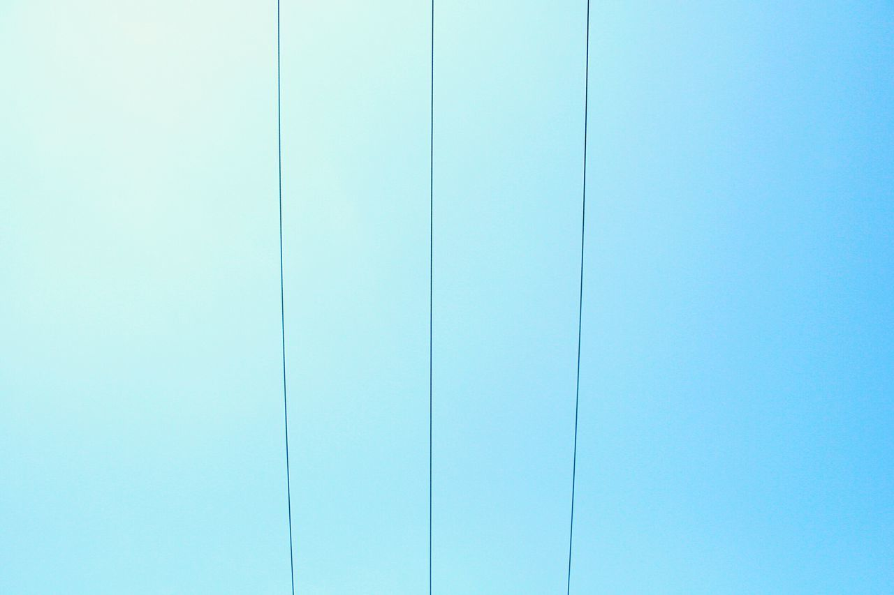 Backgrounds Copy Space Blue No People Day Sky EyeEmNewHere EyeEm Diversity ExploreEverything Powercabels Electric Cable Cables Powerlines Resist Long Goodbye The Secret Spaces Art Is Everywhere