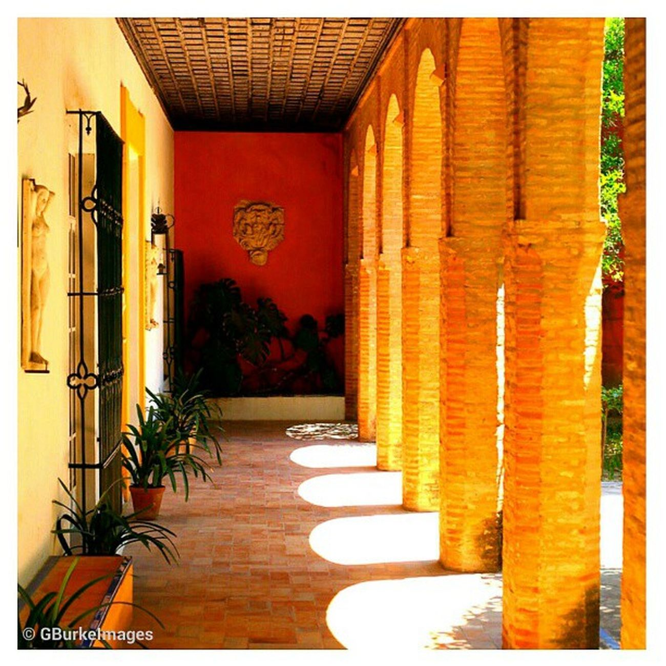 Portico at Alcazar Castle, Seville, Spain. Sevilla Seville Instagramsevilla España Spain travel travelphotos ampt_community squaready iccolorful instagood instagramhub instagramdaily pictureoftheday photooftheday