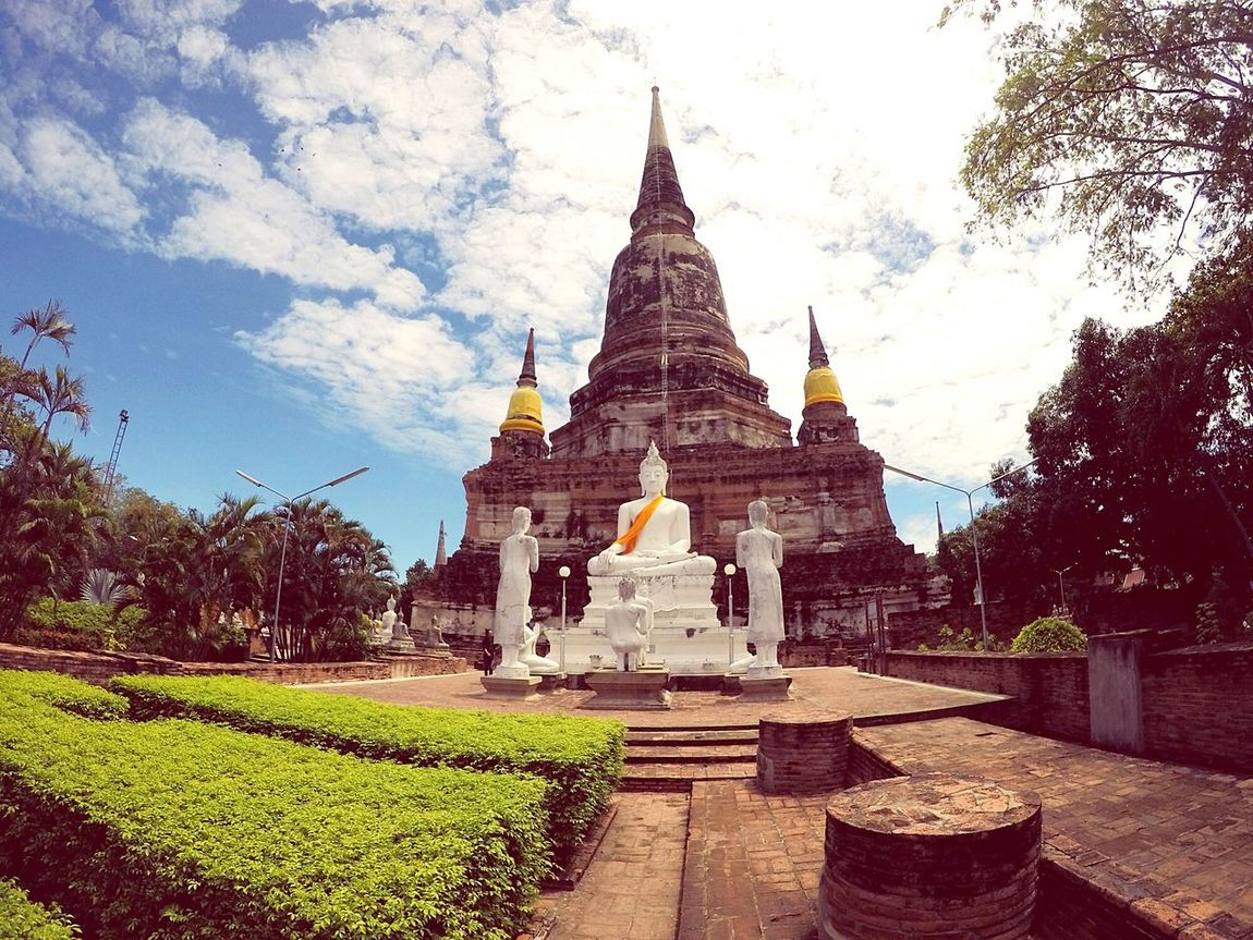 Architecture History Religion Nature No People Day Outdoors Sky Clouds Thailand🇹🇭 Thai Temple Buddhist Temple Ayutthaya Premium Collection Landscape EyeEm Best Shots Amazing Color Explosion Goprophotography Hero5black Oldcapital IGDaily All_shots Travel Destinations Vacations