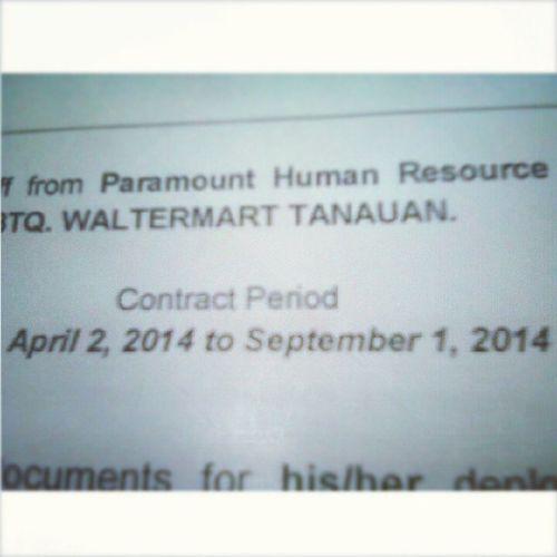 Contract signing, 5 months lang pala buti nalang :))) Paramount  Parttimer Goldenabc Penshoppe