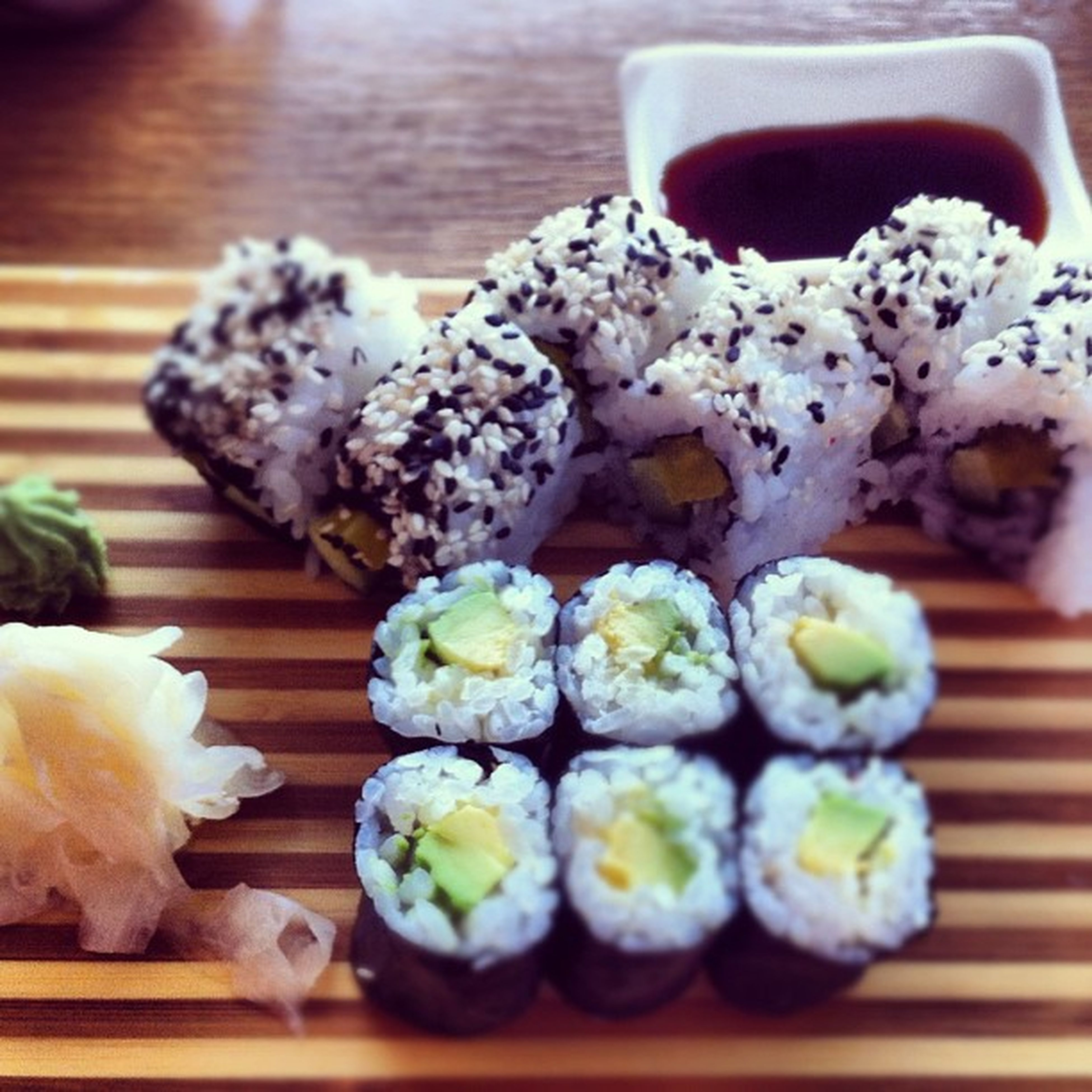 food and drink, food, freshness, indoors, ready-to-eat, still life, indulgence, close-up, sweet food, healthy eating, table, meal, plate, variation, sushi, temptation, selective focus, dessert, in a row