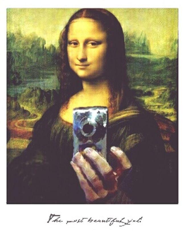 Monnalisa Gioconda Fa' Le  Selfie Parigi Francia Italia America Braziliangirl #Torino #Australia #Perù #Russia