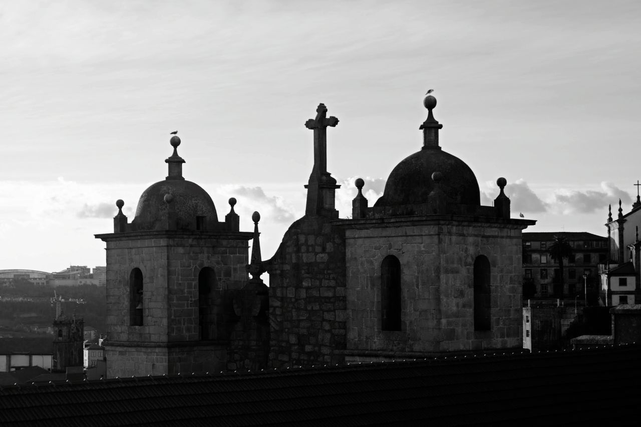 Dome Architecture Religion Place Of Worship Built Structure City Politics And Government Building Exterior Cross Spirituality Outdoors Travel Destinations Sky No People Cityscape Day Oporto Porto Douro  Portugal