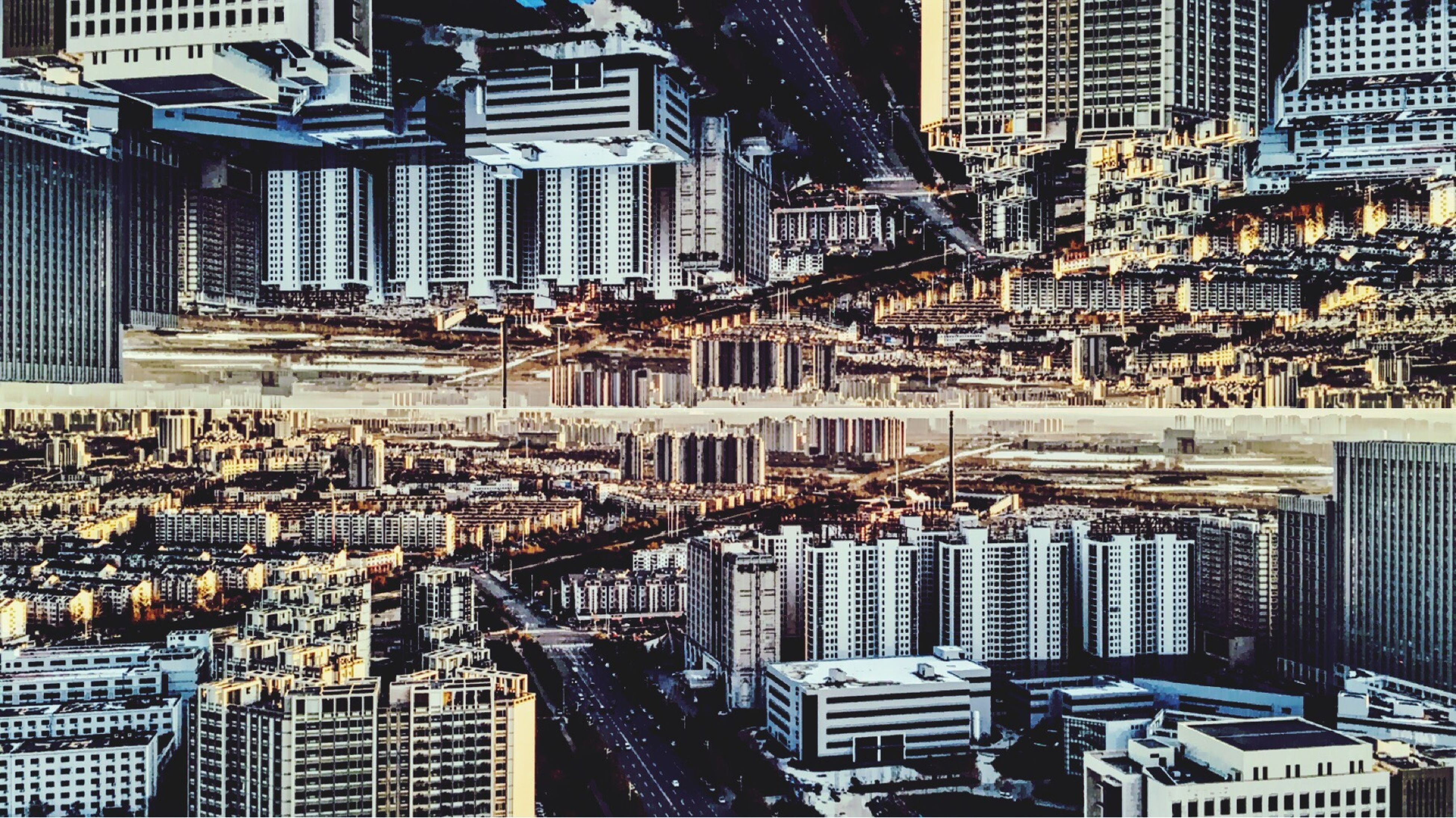 building exterior, architecture, built structure, city, cityscape, high angle view, crowded, residential district, residential building, skyscraper, residential structure, city life, office building, building, tower, day, modern, no people, outdoors, tall - high