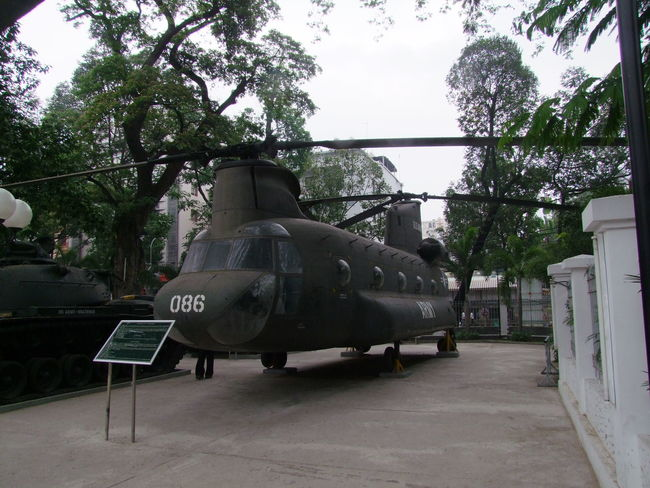Helicopter, War Remnants Museum City Composition Day Full Frame Green Color Helicopter History Ho Chi Minh City Museum No People Outdoor Photography Outdoors Tourism Tourist Attraction  Trees USA Vietnam War War Remnants Museum