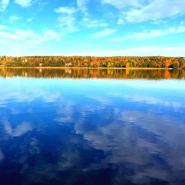 Water Lake Beauty In Nature Calm Waterfront Idyllic Autumn First Eyeem Photo