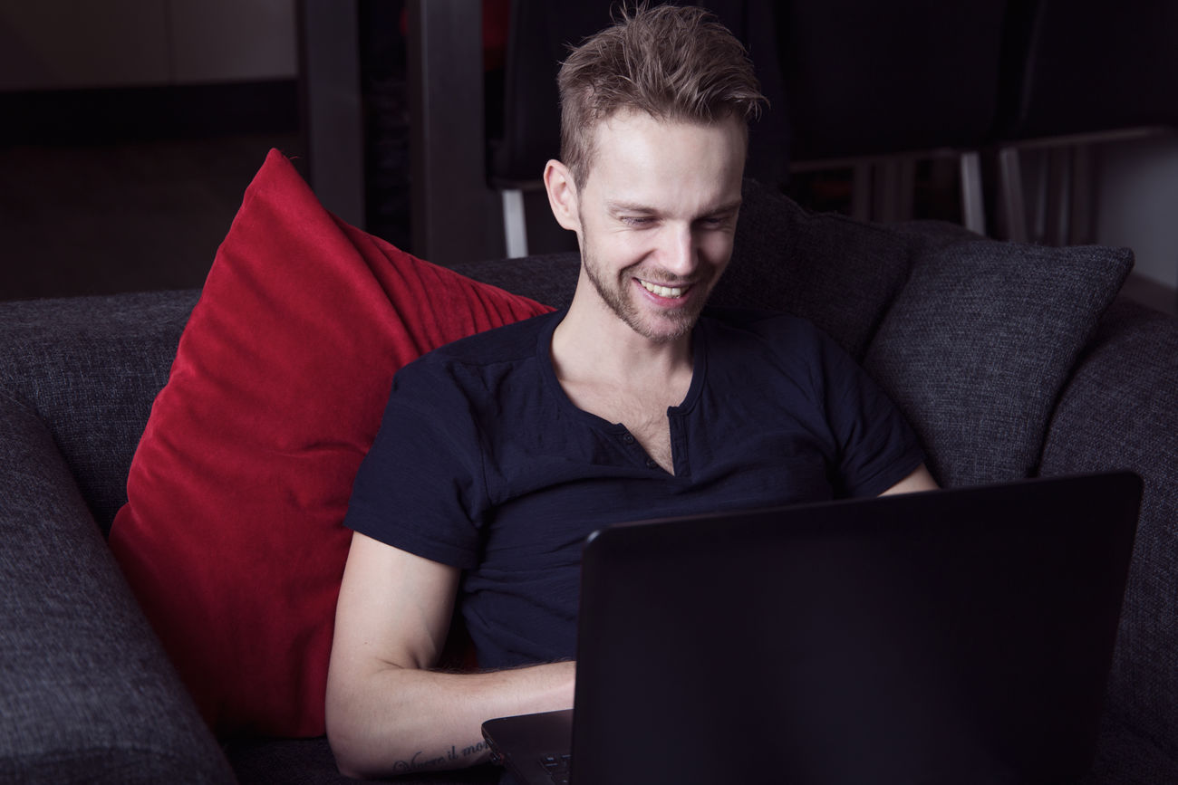 Best Seller Boy Chat Chatting Computer Dating Face Facebook Flirting Free Fun Good Guy Handsome Internet Laptop Lifestyles LOL Man Online  Popular Smile Smiling Technology Typing